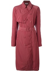 Tomas Maier Belted Trenchcoat Pink Purple