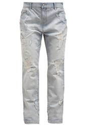 Evenandodd Relaxed Fit Jeans Blue Bleached Denim
