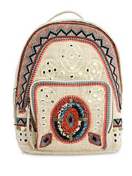 Sam Edelman Rashida Woven Backpack Bright Multi