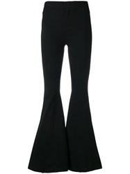 Givenchy Fitted Flared Trousers Black