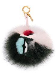 Fendi Eye Lash Bag Charm Pink And Purple