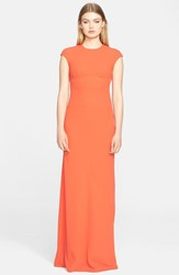 Women's T By Alexander Wang Exposed Back Crepe Maxi Dress Flare