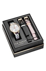 Ted Baker Women's London Kate Leather Strap Watch Set 38Mm