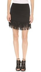 Riller And Fount Rocco Fringe Miniskirt Black
