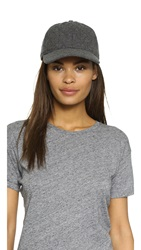 Madewell Quilted Baseball Hat Grey
