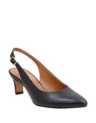 Clarks Crewsorilee Sling Back Shoes Black