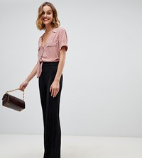 River Island Plisse Trousers In Black