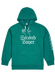 Second Layer 96 Tear Embroidered Cotton Sweatshirt Green