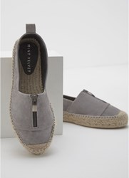 Mint Velvet Camilla Grey Zip Espadrille Grey