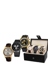 Akribos Xxiv Xxiv Men's Gold Tone Watch Gift Set Multi