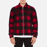 Wood Wood Men's Dale Checked Jacket Biking Red Checks