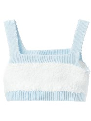 Maria Ke Fisherman Knitted Bralet White
