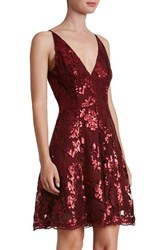 Dress The Population Women's 'Morgan' Sequin Lace Fit And Flare