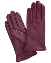 Charter Club Cashmere Lined Leather Gloves Gloxina