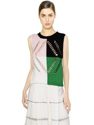Marco De Vincenzo Embellished Sleeveless Cotton Sweater