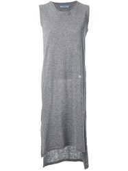 Guild Prime Low Back Knitted Sleeveless Dress Grey