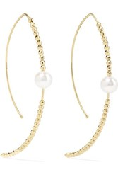 Mizuki 14 Karat Gold Pearl Earrings One Size