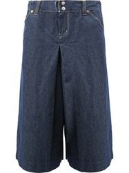 Ganryu Comme Des Garcons Wide Legged Cropped Jeans Blue