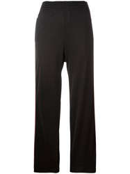 Givenchy Logo Panel Straight Trousers Black