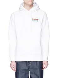 Know Wave 'Wavelength' Logo Embroidered Hoodie White