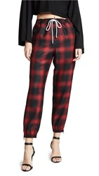Alexander Wang Track Pants With Elastic Waist Red