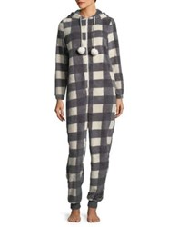 Roudelain Hashtag Jolly Plaid Coverall Black White