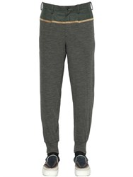 Kolor Flannel And Wool Jersey Jogging Pants