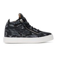 Giuseppe Zanotti Grey Python May Kriss High Top Sneakers