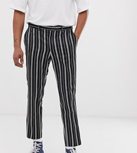 Heart And Dagger Striped Trouser In Black