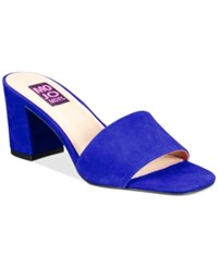 Mojo Moxy Ceci Block Heel Mules Women's Shoes Blue