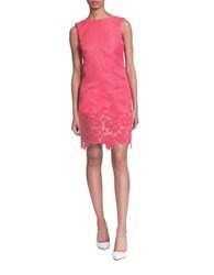 Plenty By Tracy Reese Janey Jacquard Lace Trimmed Sheath Dress Coral