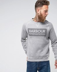 Barbour International Slim Fit International Logo Sweat In Grey Grey Marl