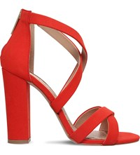 Miss Kg Faun Faux Suede Sandals Red