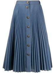 Philosophy Di Lorenzo Serafini Pleated Denim Skirt 60