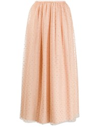 Red Valentino Polka Dotted Tulle Skirt 60