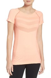 Zella Women's Infrasonic Seamless Tee Coral Sunrise