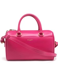 Saint Laurent Mini Leather Duffel Bag Pink And Purple