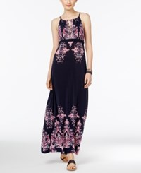 Inc International Concepts Printed Empire Maxi Dress Only At Macy's Lattern Medallion