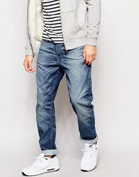 G Star G Star Jeans Type C Zip 3D Tapered Fit Rend Mid Wash Blue
