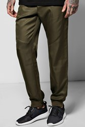 Boohoo Cuff Woven Jogger With Zip Pockets Sage