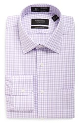 Nordstrom Men's Big And Tall Men's Shop Smartcare Tm Traditional Fit Plaid Dress Shirt Lavender Spray