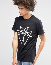 Long Clothing Octogram Oversized T Shirt Black