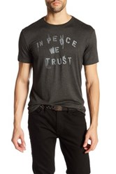 John Varvatos In Peace We Trust Graphic Tee Gray