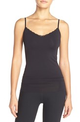 Women's Nordstrom Lingerie Lace Trim Two Way Seamless Camisole Black