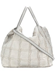 Numero 10 Weave Effect Shoulder Bag Grey