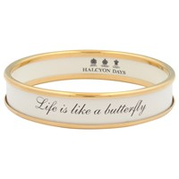 Halcyon Days Life Is Like A Butterfly Gold Plated Enamel Bangle