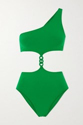 Eres Gourmette Medaille Cutout Braided Swimsuit Green