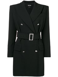 Tom Ford Tailored Double Breasted Mini Dress Black