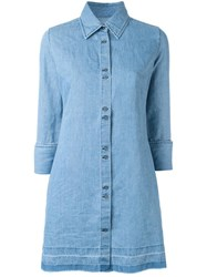J Brand Denim Shirt Dress Blue