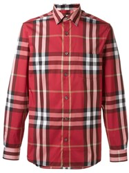 Burberry Brit Checked Shirt Red